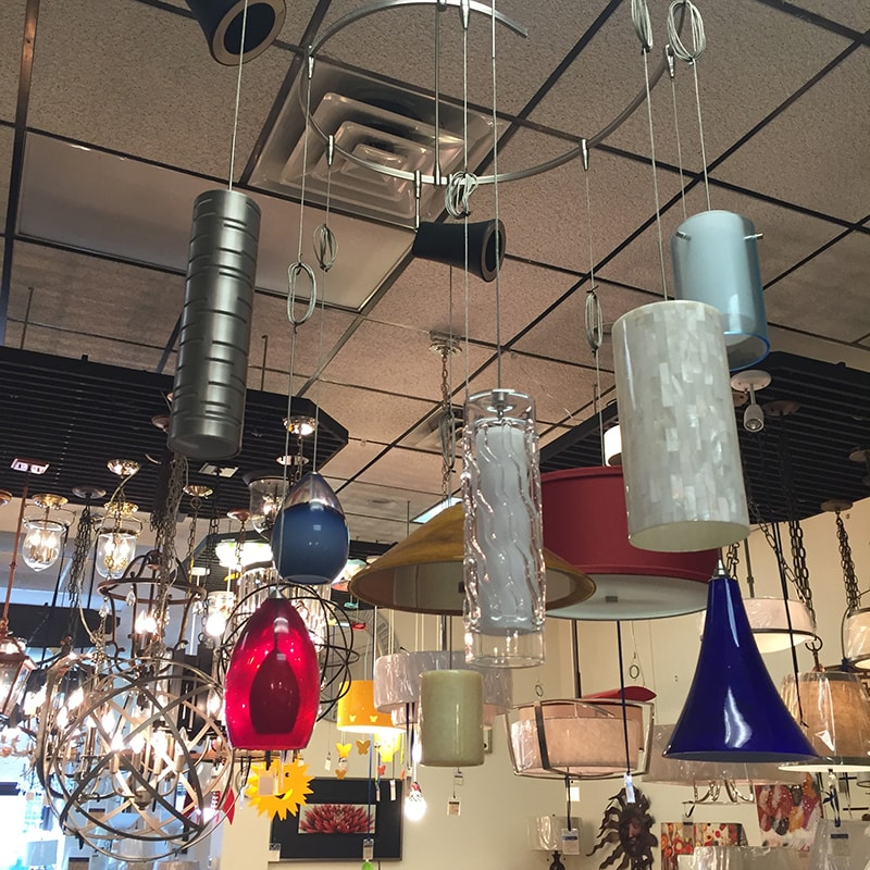 Hanging lights in Charlottesville