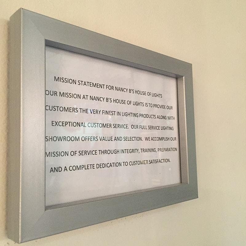 Nancy B's Mission Statement