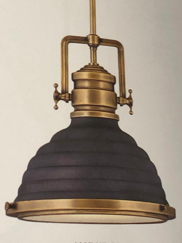 Gold and Black Light Fixture at Lightovation