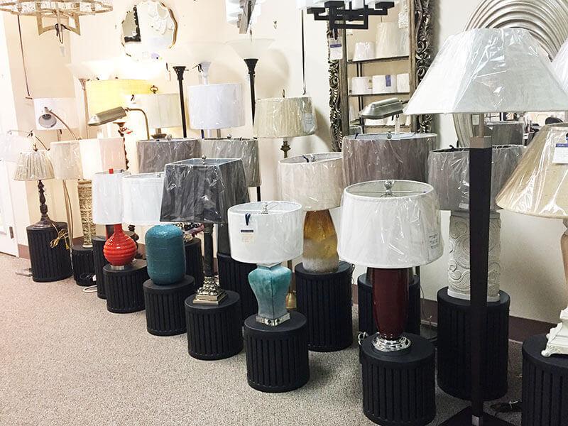 Lamps in Charlottesville at Nancy B's